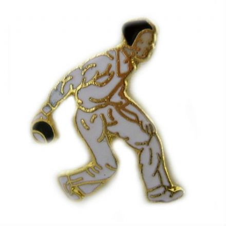 Male Bowler Pin Badge